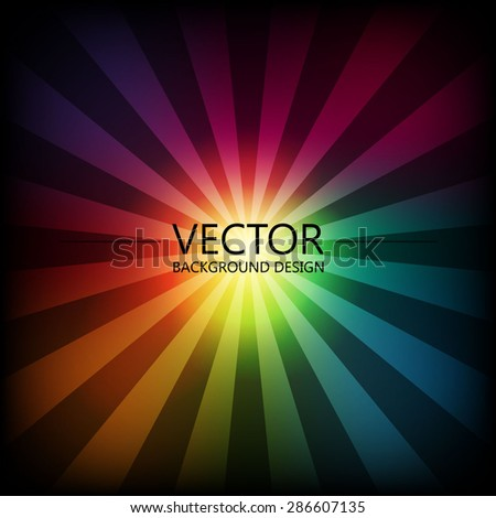 Abstract colorful explosion design, Rainbow color, Modern disco lights background. - stock vector