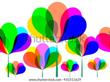 Abstract colorful floral design. Illustration background.