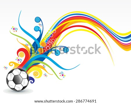 abstract colorful football explode vector illustration - stock vector