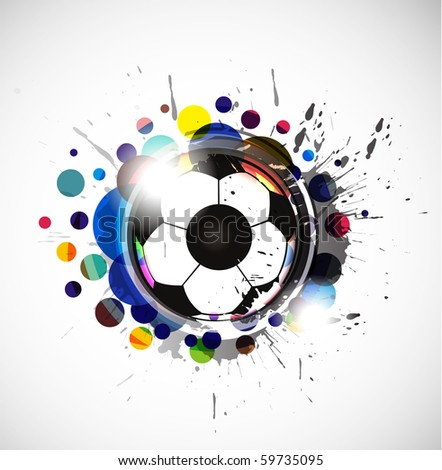abstract colorful footballs background, vector illustration. - stock vector