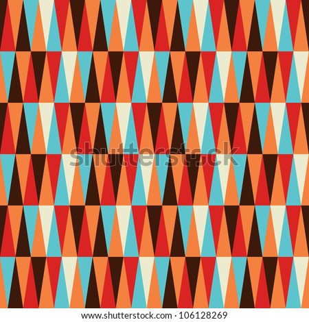 Abstract colorful geometric pattern background. Vector file layered for easy manipulation and coloring. - stock vector