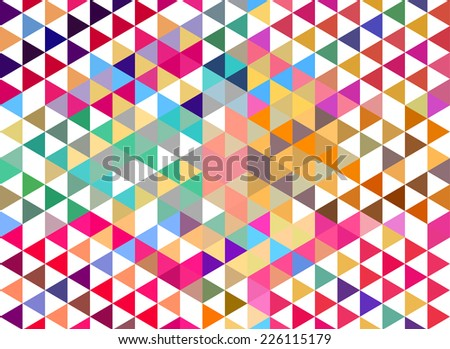 Abstract colorful geometric style background & banner design