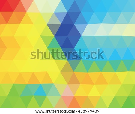 Abstract colorful geometric triangle polygonal background, template. - Stock vector - stock vector