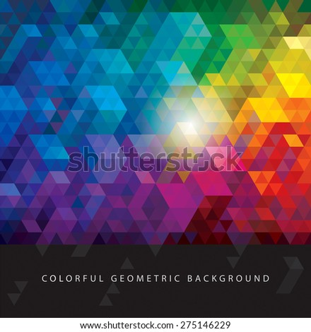 Abstract colorful geometric urban background.   - stock vector