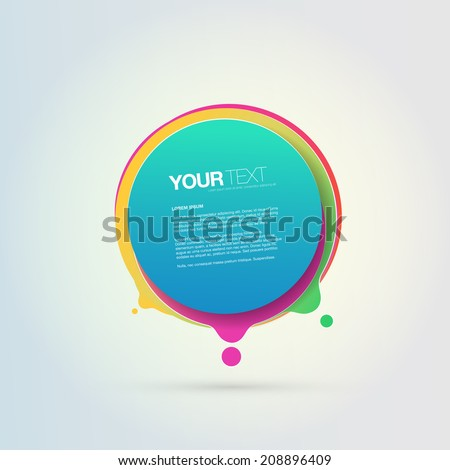 Abstract colorful geometrical circles design bubble with your text  Eps 10 stock vector illustration  - stock vector