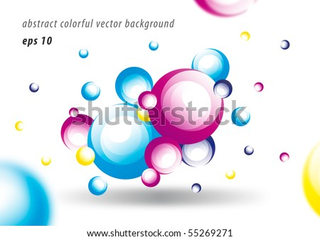Abstract colorful glossy circle vector background design - stock vector