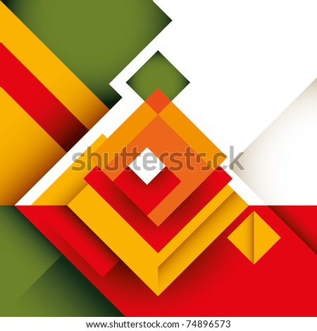 Abstract colorful graphic with rectangle shapes. Vector illustration. - stock vector