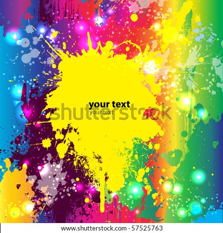 Abstract Colorful Grunge Background. Vector. - stock vector