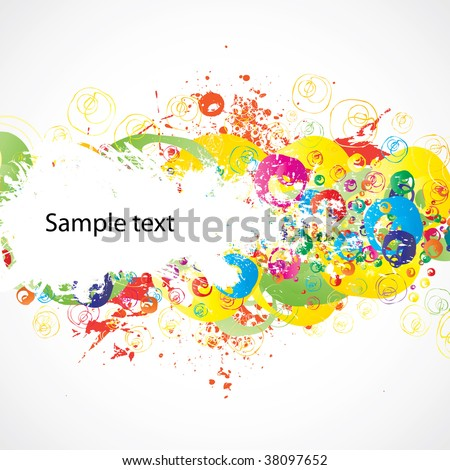 Abstract colorful (grunge banner) background for your business artwork