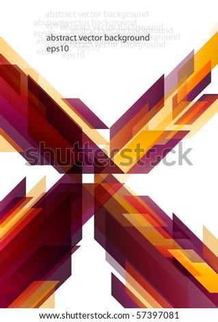 Abstract colorful hi-tech background design (eps10) - stock vector