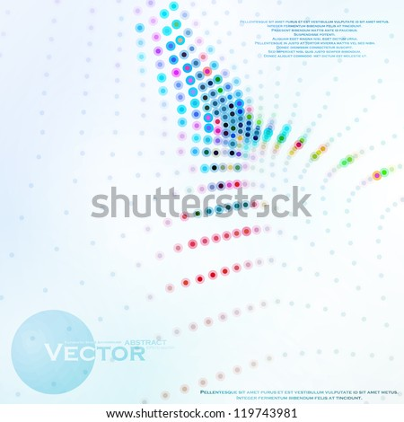 Abstract colorful illustration, creative vector eps10. - stock vector
