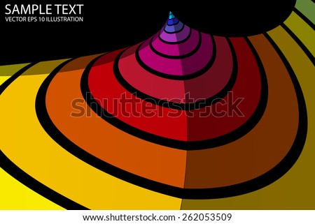 Abstract colorful lighted background illustration - Vector colorful striped eps10 background template - stock vector