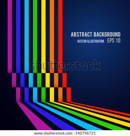 Abstract colorful line background. Vector illustration. Can be used for your business presentations