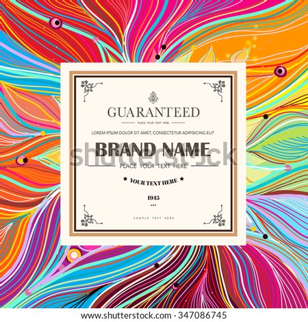 Abstract colorful line background with place for your text. - stock vector