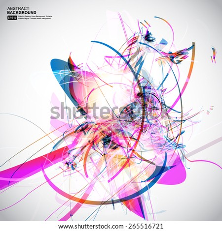 Abstract colorful line vector background - stock vector
