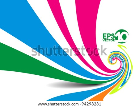 abstract colorful line, vector illustration - stock vector