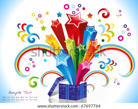 abstract colorful magic box vector illustration - stock vector