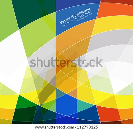 abstract colorful mosaic background wave vector - stock vector