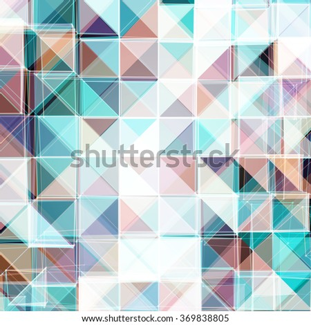 Abstract Colorful Mosaic Design | EPS10 Vector Illustration - stock vector