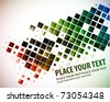 abstract colorful mosaic pattern design, vector illustration. - stock photo