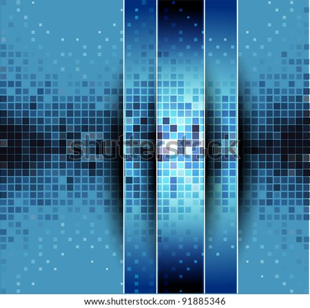 abstract colorful mosaic pattern design, vector illustration. - stock vector