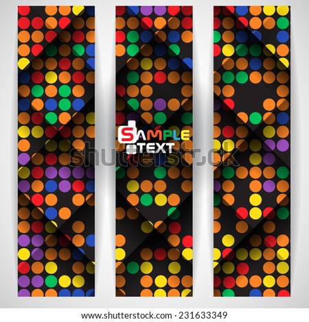 Abstract Colorful Mosaic Pattern Design. Vector Illustration. Eps 10 - stock vector