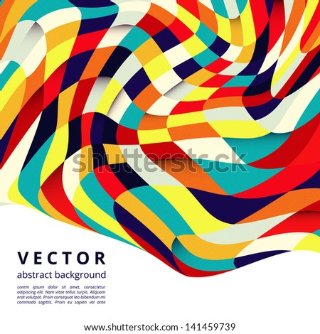 Abstract colorful mosaic square vector design - stock vector