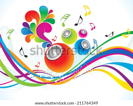 abstract colorful musical background vector illustration - stock vector