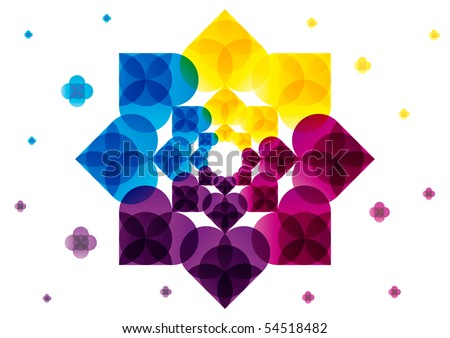 Abstract colorful ornament - stock vector