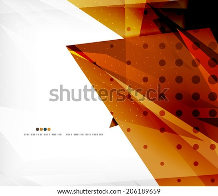 Abstract colorful overlapping shapes 3d composition - stock vector