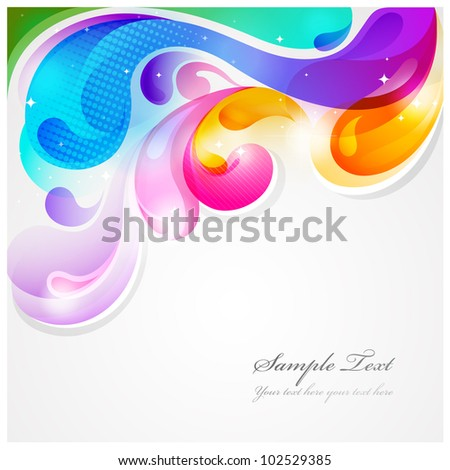 Abstract colorful paint splash vector background - stock vector