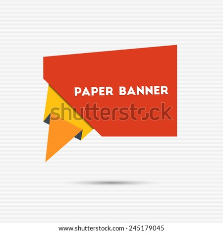 Abstract colorful paper banner for your design - stock vector