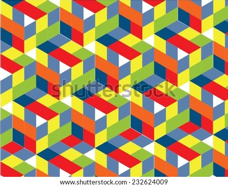 abstract colorful patern - stock vector