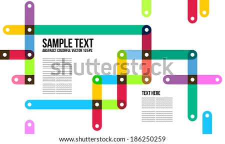 Abstract Colorful Pattern.  Background , Cover , Layout , Magazine, Brochure , Poster , Website , Name card , etc. - stock vector