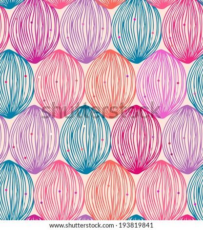 Abstract colorful pattern. Seamless ornate decorative background with multicolor clews - stock vector