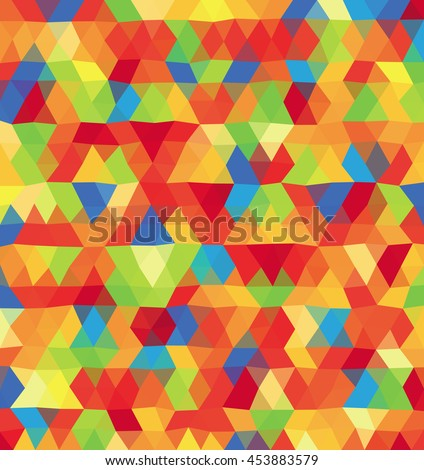 Abstract colorful polygonal background, template. - Stock vector - stock vector