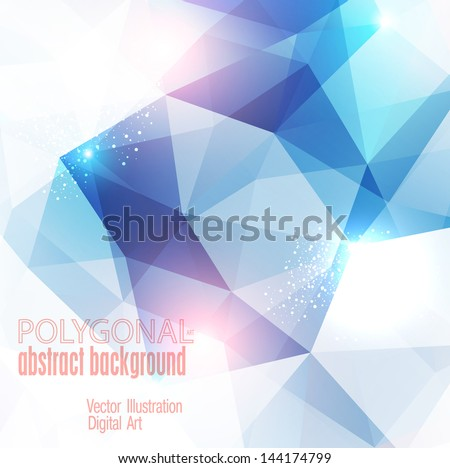 Abstract colorful polygonal background. Vector illustration - stock vector