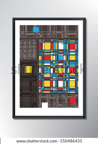 Abstract Colorful Poster Design Template. Poster with Abstract Geometric Style Background.