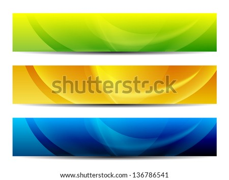 abstract colorful presentation web banners - stock vector