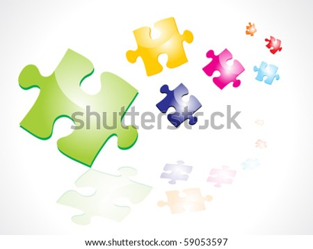 abstract colorful puzzles vector illustration