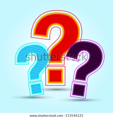abstract colorful question mark - stock vector