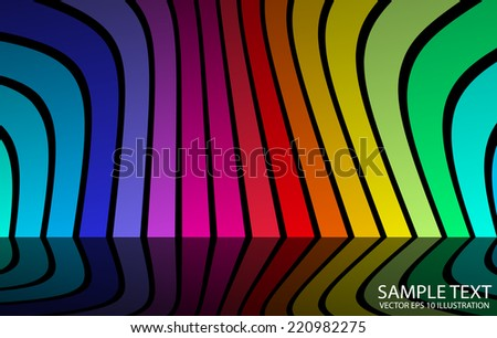 Abstract colorful rainbow vector background illustration - Colorful abstract vector background template - stock vector
