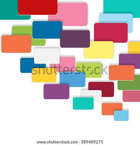 abstract colorful rectangle pattern background