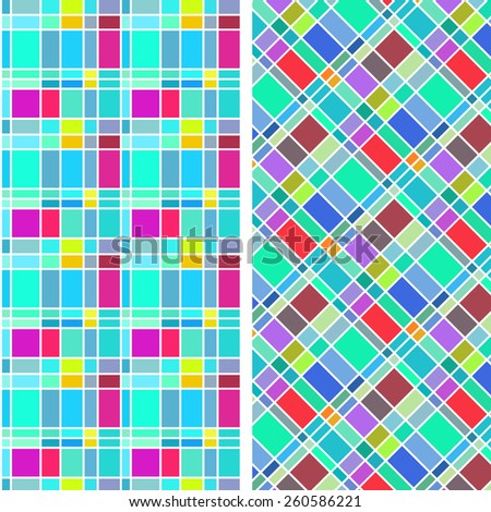abstract colorful rectangle pattern in children and toy style