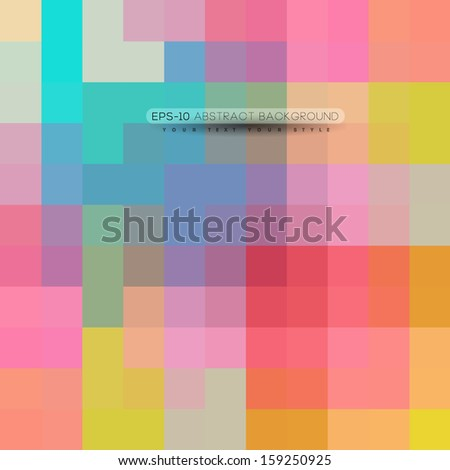 abstract colorful rectangles, geometric style background - stock vector