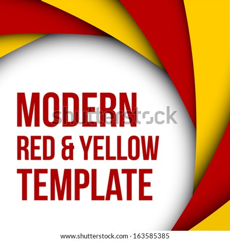 Abstract colorful red and yellow background - stock vector