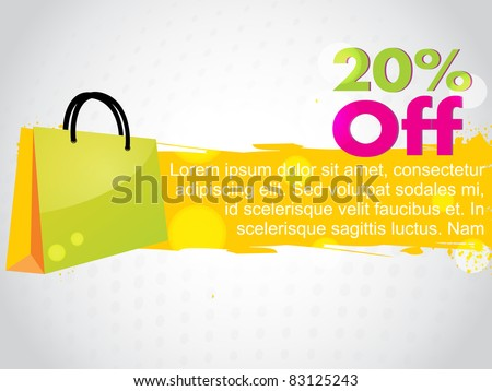 abstract colorful sale design - stock vector