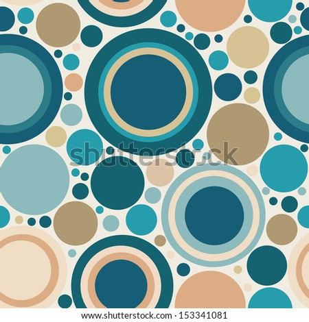 Abstract  colorful seamless composition with Circles. Wallpaper for pattern fills, web page. - stock vector