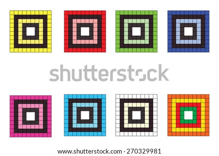 Abstract colorful series of squares , Vector background. Pattern design , EPS 10 - stock vector