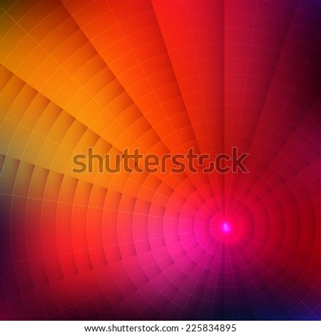 Abstract colorful shining circle spiral vector background - stock vector